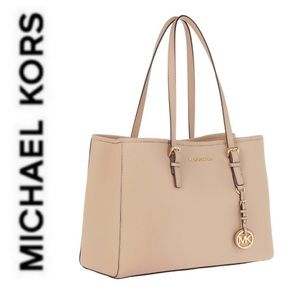 NWT authentic MK large leather tote oyster